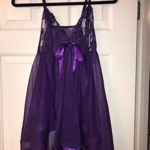 NWOT Dark purple lingerie size 2X brand new.